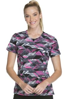 CK609A Round Neck Top-Cherokee Medical