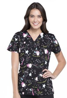 CK616 - Halloween + Various Print Scrub top by Cherokee-Cherokee Medical