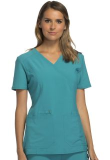 IFlex Mock Wrap Knit Panel Top - CK619-Cherokee Medical