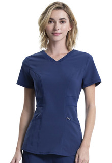 Infinity 3 Pocket Stretch Knit V-Neck - CK623A-Cherokee Medical
