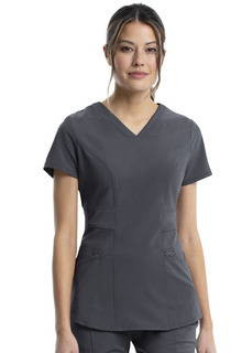 Infinity Stretch Knit V Neck - Antimicrobial-Cherokee Medical