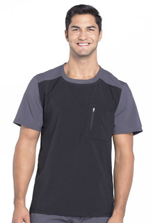 Mens Colorblock Crew Neck Top-Cherokee Uniforms