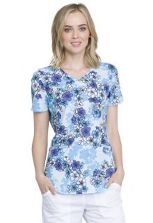 CK637 V-Neck Top-Cherokee Medical