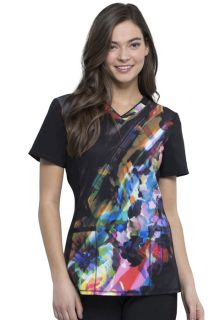 CK648 V-Neck Top-Cherokee Medical