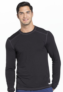 Mens Long Sleeve Underscrub Knit Top-Cherokee Uniforms