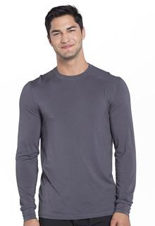 Mens Long Sleeve Underscrub Knit Top-Cherokee Uniforms