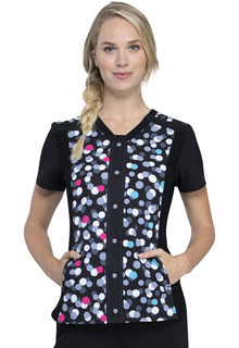 IFlex Print Knit Panel Top-Cherokee Medical