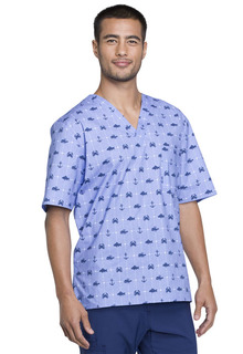 CK675 Mens V-Neck Top-Cherokee Medical