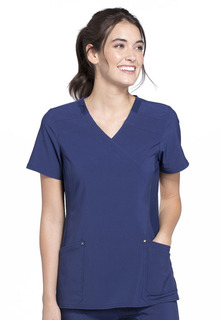 IFlex Signature Mock Wrap Knit Panel Top - CK680-Cherokee Medical