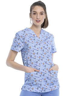 Z - CK691 Unisex V-Neck Top-Cherokee Medical