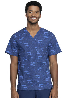 Z - CK692 Mens V-Neck Top-Cherokee Medical