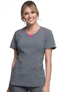 CK710A Round Neck Top-Cherokee Medical