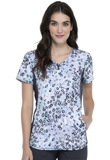 IFlex Knit Panel Print Top-Cherokee Medical