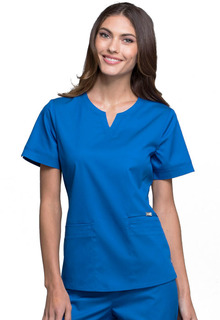 Notch V-Neck Top-Cherokee Medical
