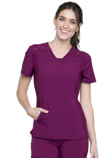 DEAL - IFlex V-Neck Knit Panel Top-Cherokee Medical