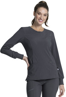 Infinity NEW Long Sleeve Knit Cuff Top - Antimicrobial-Cherokee Medical