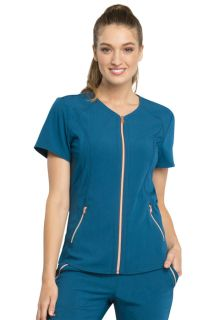 CH Statement NEW V-Neck Zip Front Top - Cherokee CK795-Cherokee Medical