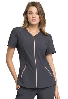 V-Neck Zip Front Top-Cherokee Uniforms