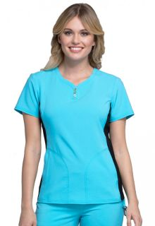V-Neck Button Placket Top-Cherokee Uniforms