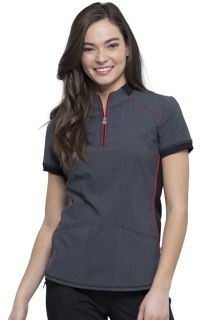 Infinity NEW Zip-up Mock Neck Top-Cherokee Medical
