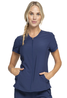 Infinity Zip Front V-Neck - CK810A-Cherokee Medical
