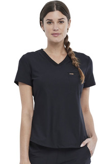 CK819 NEW Tuckable V-Neck Top by Cherokee-Cherokee Medical