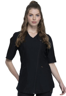 Asymmetrical Zip Front Tunic-Cherokee Medical