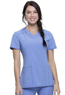 Infinity NEW Antimicrobial V-Neck Top-Cherokee Medical