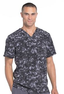 Infinity Mens Printed V-Neck Top - CK902