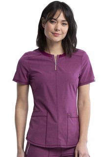 Infinity Round Neck Top - Antimicrobial-Cherokee Medical