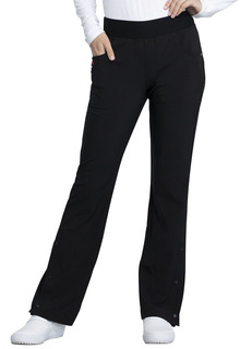 CKK075 Mid Rise Moderate Flare Leg Pull-on Pant-Cherokee Medical