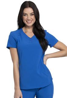 Katie Duke NEW iFlex Snappy V Neck Top-Cherokee Medical