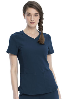 Katie Duke NEW Stylized V-Neck Top-Cherokee Medical