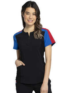 DEAL Katie Duke iFlex Zip Neck Top-Cherokee Medical