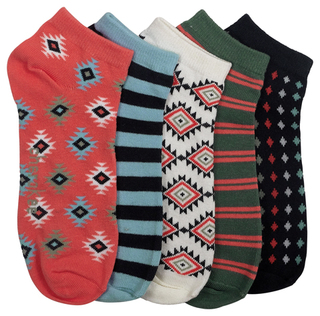 CORALCRAZE 6-5pr packs of No Show Socks-Cherokee Medical