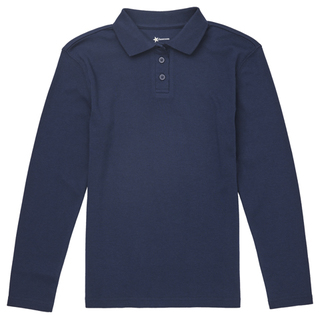 CR854Y Girls Long Sleeve Fitted Interlock Polo-Classroom Uniforms