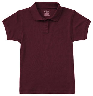 CR858Y Girls Short Sleeve Fitted Interlock Polo-Classroom Uniforms