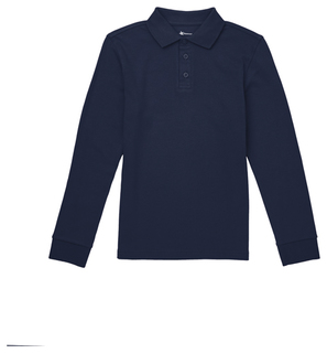 Youth Long Sleeve Interlock Polo-