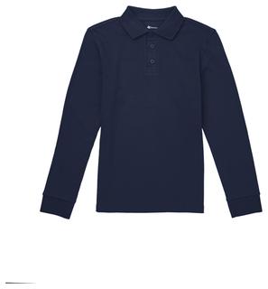 Youth Long Sleeve Interlock Polo-