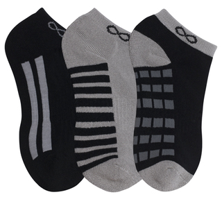 1-3pr pack of No Show Socks-