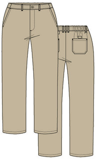 Dickies Chef Hospitality Chef Pants Mens Classic Zip-Fly Dress Pant-Dickies Chef