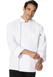Unisex Cool Breeze Chef Coat with Piping-