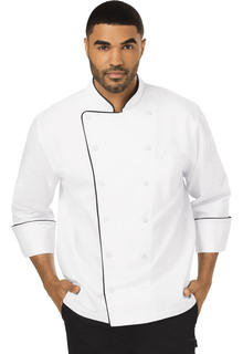 Unisex Executive Chef Coat with Piping-Dickies Chef