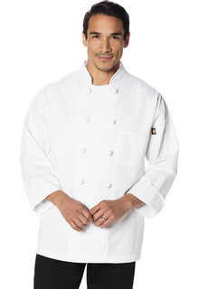 Unisex Classic Knot Button Chef Coat-