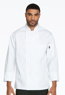 Unisex Classic Cloth Covered Button Coat-Dickies Chef
