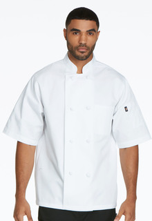 Unisex Classic Knot Button Chef Coat S/S-Dickies Chef