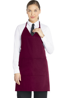 V-Neck Tuxedo Apron with Snaps-Dickies Chef