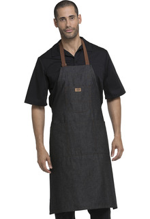 Bib Apron with Brown Straps-Dickies Chef