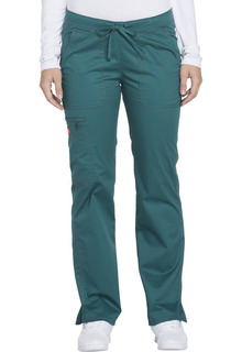 Gen Flex Ladies Low Rise Elastic/Drawstring Cargo Scrub Pants - Dickies DK100-Dickies