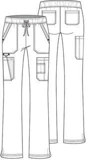 DK200 Mid Rise Boot Cut Drawstring Pant-Dickies